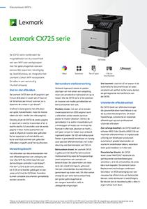 Brochure Lexmark CX725 serie