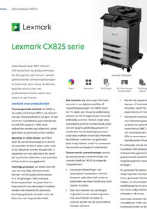 Brochure Lexmark CX825de serie